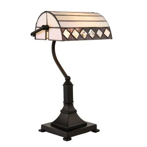 Tiffany Fargo bankers table Light for sale at Lichfield Lighting