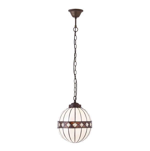 Tiffany Fargo small globe 1lt pendant for sale at Lichfield Lighting