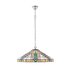 Tiffany Lloyd large 3lt pendant ceiling light polished aluminium for sale at Lichfield Lighting