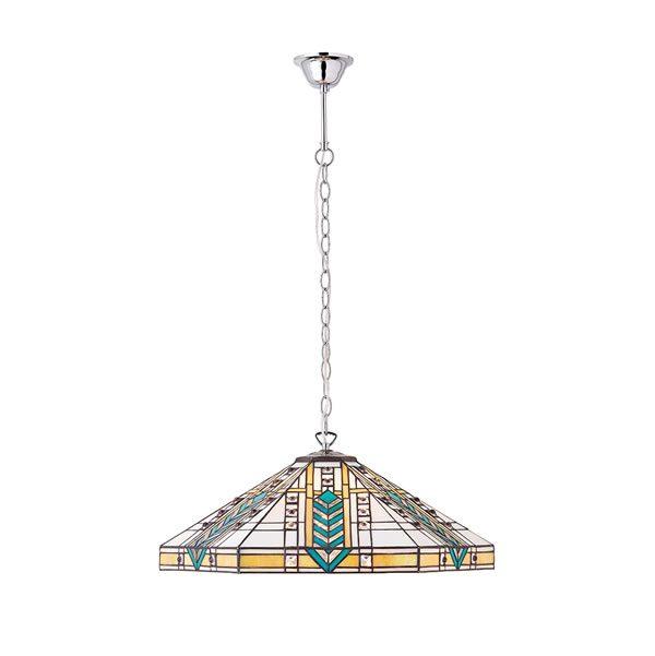 Tiffany Lloyd large 3lt pendant ceiling light polished aluminium for sale at Lichfield Lighting