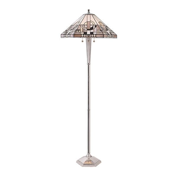 Tiffany Metropolitan floor lamp polished aluminium for sale at Lichfield Lighting