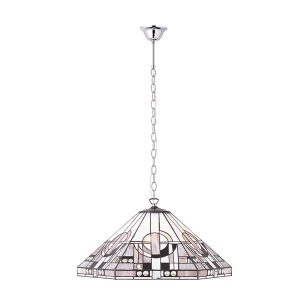 Tiffany Metropolitan large 3lt pendant ceiling light polished aluminium for sale at Lichfield Lighting