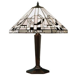 Tiffany Metropolitan medium table light bronze for sale at Lichfield Lighting