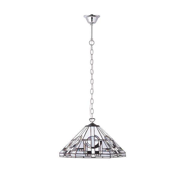 Tiffany Metropolitan medium 1lt pendant ceiling light bronze for sale at Lichfield Lighting