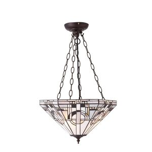 Tiffany Metropolitan medium inverted 3lt pendant ceiling light bronze for sale at Lichfield Lighting
