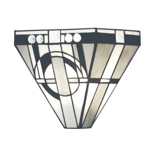 Tiffany Metropolitan wall light bronze for sale at Lichfield Lighting