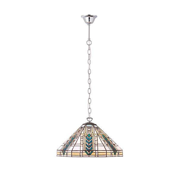 Tiffany Lloyd medium 1lt pendant ceiling light polished aluminium for sale at Lichfield Lighting