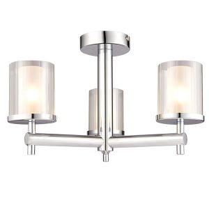 Endon Britton 3lt semi flush bathroom light for sale lichfield lighting