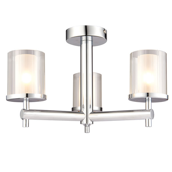Endon Britton 3lt semi flush bathroom light for sale lichfield lighting