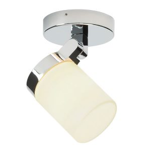Endon Cosmo 1lt plate bathroom light for sale at Lichfield Lighting