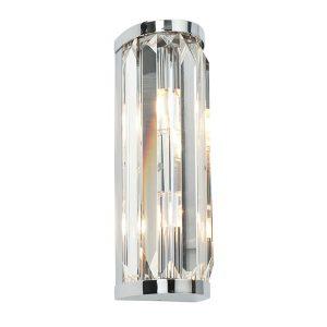 Endon Crystal 2lt wall light bathroom light for sale at Lichfield Lighting