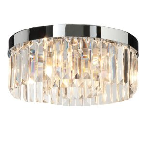 Endon Crystal 5lt flush bathroom light for sale at Lichfield Lighting