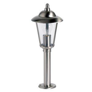Endon Klien post steel outside light for sale at Lichfield Lighting