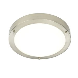 Endon Portico LED flush bathroom light for sale at Lichfield Lighting