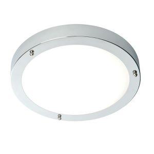 Endon Portico LED flush bathroom light Chrome for sale at Lichfield Lighting