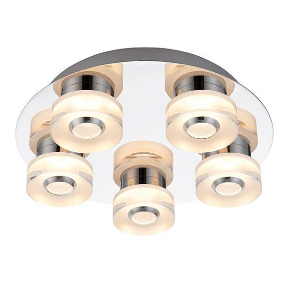 Bathroom Lights Endon endon rita 5lt flush bathroom light - lichfield lighting