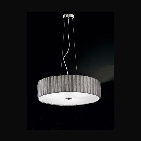 Franklite Lucera 4 Light Pendant In Satin Nickel Pendant