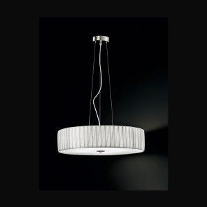 Franklite Lucera 4 light Pendant in satin nickel Ceiling Light for sale at Lichfield Lighting