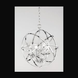Franklite Zany 4 light Fitting Modern chrome finish 4 light pendant for sale at Lichfield Lighting