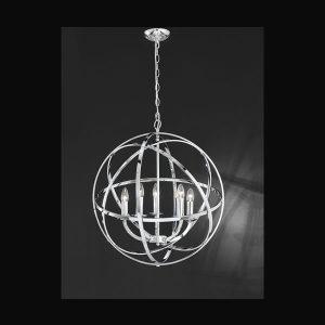 Franklite Zany 6 light Fitting Modern chrome finish 6 light pendant for sale at Lichfield Lighting