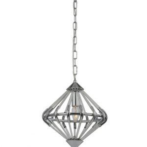 Franklite follie FL2361/1 chrome glass light pendant for sale at Lichfield Lighting