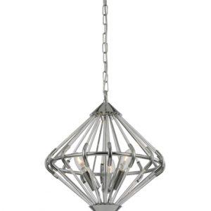 Franklite follie FL2361/3 chrome glass light pendant for sale at Lichfield Lighting