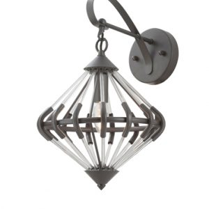 Franklite Follie FL2362/1 Fitting Modern antique finish ironwork and glass pendant for sale at Lichfield Lighting