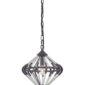 Franklite Follie FL2363/1 Fitting Modern antique finish ironwork and glass pendant for sale at Lichfield Lighting