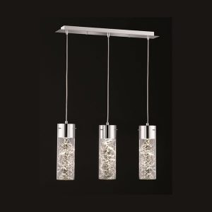 Franklite Frenzy FL2332/3 Fitiing Modern Modern Glass 3 light pendant for sale at Lichfield Lighting