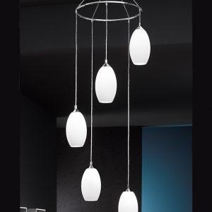 Franklite Pendeo FL2199/5/818 Fitting Modern chrome finish pendant for sale at Lichfield Lighting