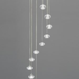 Franklite tizzy FL2343/10 Fitting Modern chrome finish pendant for sale at Lichfield Lighting