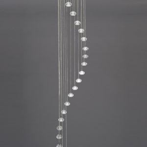 Franklite tizzy FL2343/20 Fitting Modern chrome finish pendant for sale at Lichfield Lighting