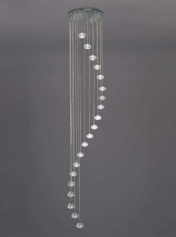 Franklite tizzy FL2343/20 Fitting Modern chrome finish pendant for sale at Lichfield Lighting
