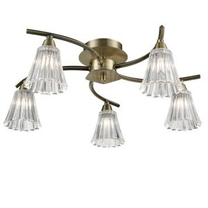 Franklite Clemmy FL2378-5 light Ceiling Bronze finish sale at Lichfield Lighting