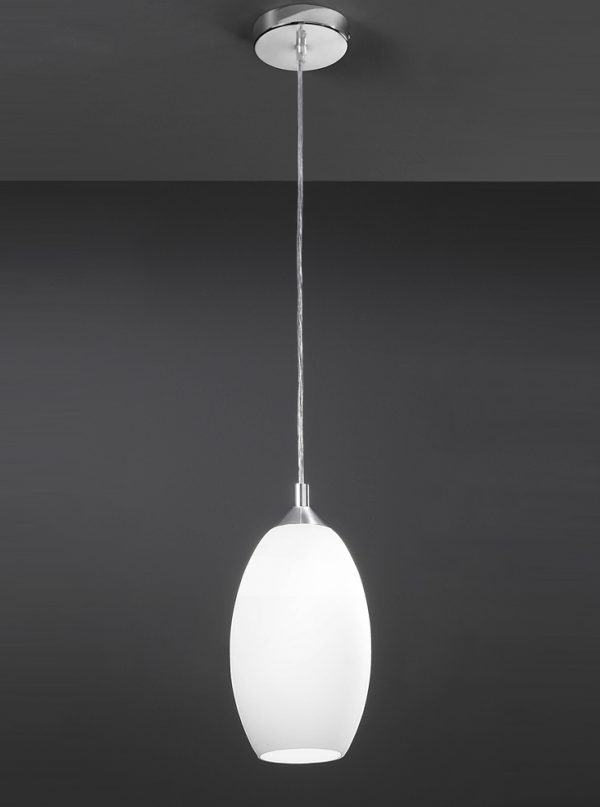 Franklite Pendeo PCH85/818 Fitting Modern chrome finish pendant for sale at Lichfield Lighting