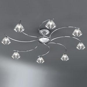 Franklite Twista 8 light Flush Ceiling Light chrome for sale at Lichfield Lighting