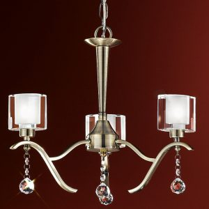Franklite Theory 3lt Flush Ceiling Light Bronze for sale at Lichfield Lighting