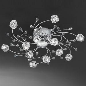 Franklite Podette 12lt Ceiling Flush Light Chrome for sale at Lichfield Lighting