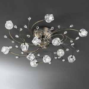 Franklite Podette 12lt Ceiling Flush Light bronze for sale at Lichfield Lighting