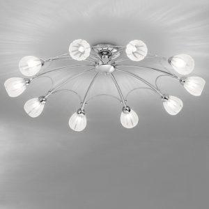 Franklite Chloris 10lt Ceiling Flush Light Chrome for sale at Lichfield Lighting