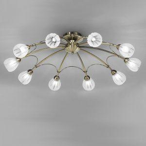Franklite Chloris 10lt Ceiling Flush Light Bronze for sale at Lichfield Lighting