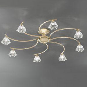 Franklite Twista 8lt Flush Ceiling Light Brass for sale at Lichfield Lighting