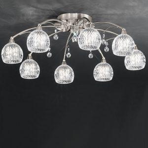Franklite Jura 8lt Ceiling Flush Light Satin Nickel sale at Lichfield Lighting