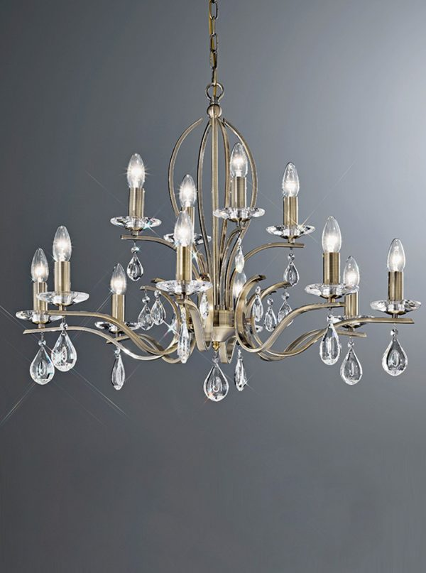 Franklite Willow 12 light Chandelier for sale online