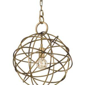 Franklite orbit FL2366/1 Modern matt gold iron work light pendant for sale at Lichfield Lighting