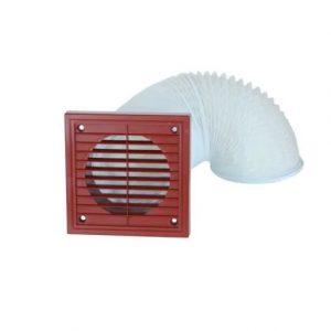 Lichfield Lighting AirFlow Extractor Fan Venting Kit Flexible Terracotta