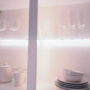 Lichfield Lighting Sirius 450mm Clip On LED Glass Shelf Light