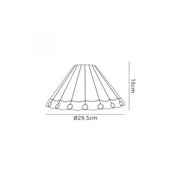 Lichfield Lighting St John Tiffany 30cm Non-Electric Shade, Amber/Credlock/Crystal Dimensions