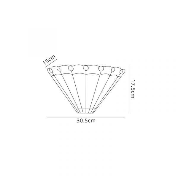 Lichfield Lighting St John Tiffany Wall Lamp, 2 x E14, Amber/Credlock/Crystal Dimensions