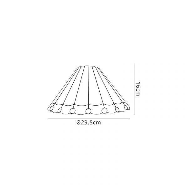 Lichfield Lighting St John Tiffany 30cm Non-Electric Shade, Grey/Credlock/Crystal Description